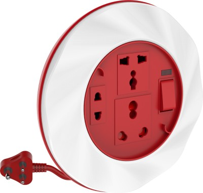 Goldmedal Twister 16a 3 Socket Surge Protector(White, Red)