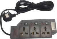 Antex HG 811 3 Socket Surge Protector(Black)