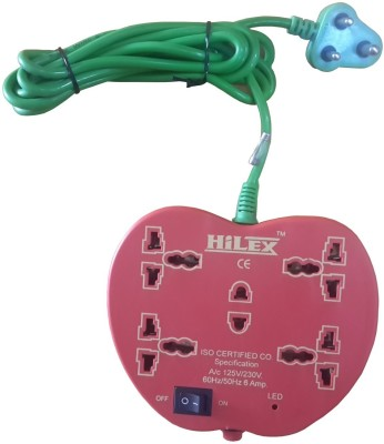 Hilex Apple Strip 5 Wall Mount Surge Protector