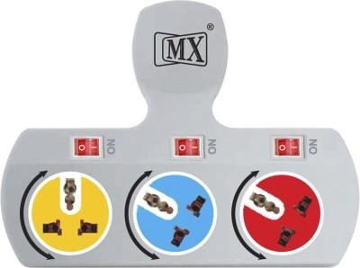 MX 3 Socket Universal Multi Plug 5 AMP- 3477A 3 Single Adapter Surge Protector