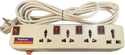 Rajdeep 415s Power strip 5mtr 4way 4 Strip Surge Protector