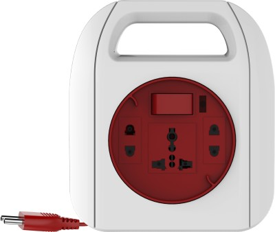 Goldmedal Sliq 2 Pin 3 Socket Surge Protector(White, Red)