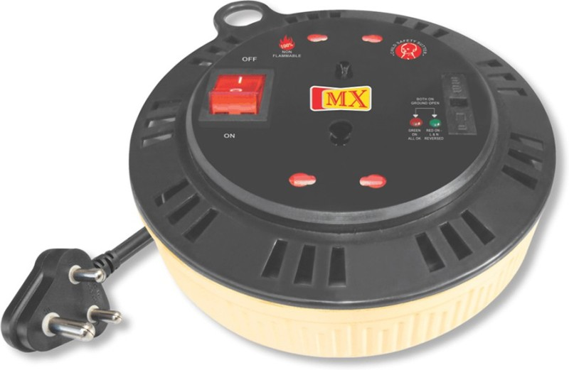 MX MXMDR2 2 Socket Surge Protector(Multicolor)