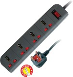 MX 4 Socket Spike Surge Protector (Profe...
