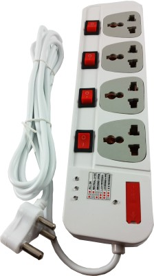 care case 4 switch 5 yards extension board cord spike guard 4 Wall Mount Surge Protector