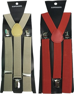 atyourdoor Y- Back Suspenders for Men(Brown)
