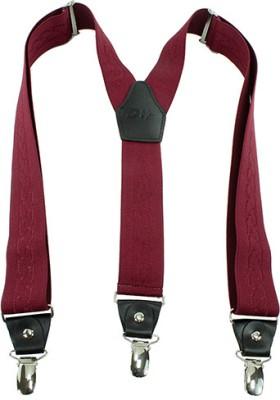 Orosilber Y- Back Suspenders for Men(Red)
