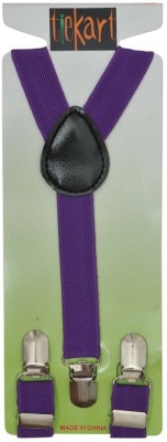 Tiekart Y- Back Suspenders for Men(Purple)