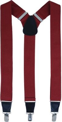 Alvaro Y- Back Suspenders for Men(Maroon)
