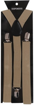 Tiekart Y- Back Suspenders for Men(Brown)
