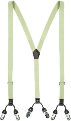 The Tie Hub Y- Back Suspenders for Men(White)