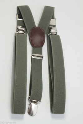 Fashion Circuit Y- Back Suspenders for Men