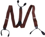 HDE Y- Back Suspenders for Men (Brown)