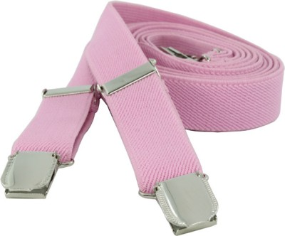Orosilber Y- Back Suspenders for Boys, Girls, Men, Women(Pink)