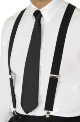Civil Outfitters Y- Back Suspenders for Men