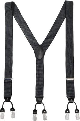 The Tie Hub Y- Back Suspenders for Men(Black)