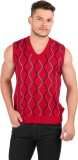Oxemberg Checkered V-neck Casual Men Red...