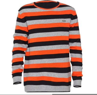Status Quo Cubs Striped Round Neck Casual Boy's Reversible Multicolor Sweater