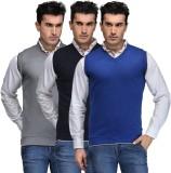 TSX Solid V-neck Casual Men Grey, Blue, ...