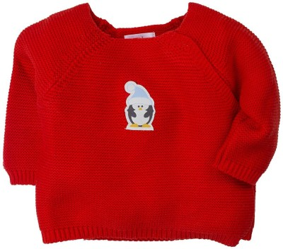 Mom & Me Solid Round Neck Casual Baby Girl's Red Sweater