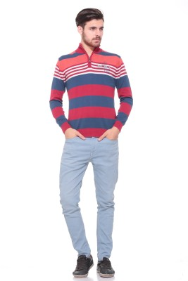 Pro Riders Solid Turtle Neck Casual Men's Red, Blue Sweater