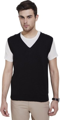 Urban Nomad By INMARK Solid V-neck Casual Men's Black Sweater