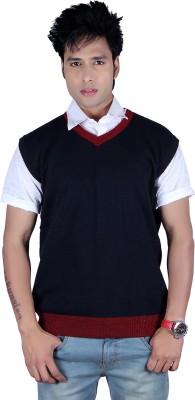 Deutz Solid V-neck Casual, Festive, Formal, Party, Sports Men's Dark Blue, Maroon Sweater