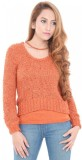 Estance Solid Round Neck Casual Women Or...