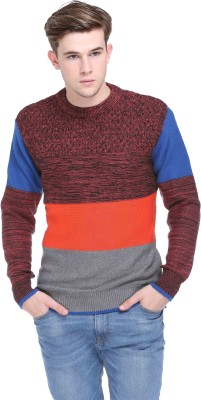 CLUB YORK Solid Round Neck Casual Men's Multicolor Sweater