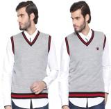 Sports 52 Wear Solid V-neck Casual Men G...