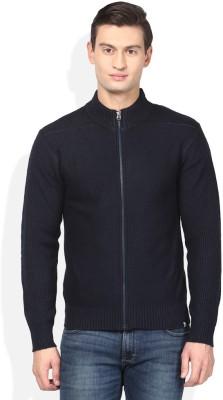Numero Uno Solid Crew Neck Casual Men's Blue Sweater