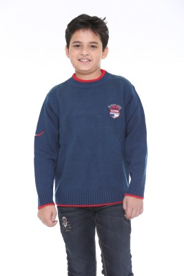 Superkids Solid Round Neck Casual Boy's Multicolor Sweater