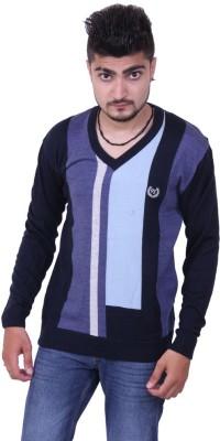 Austrich Solid V-neck Casual Men's Black Sweater