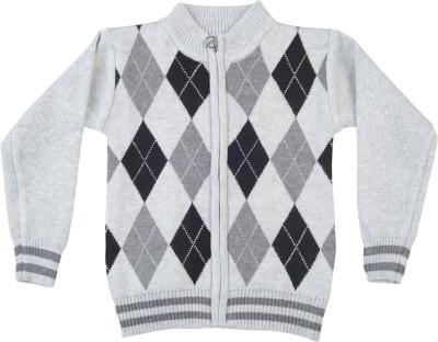 Addyvero Geometric Print Turtle Neck Casual Girl's Multicolor Sweater