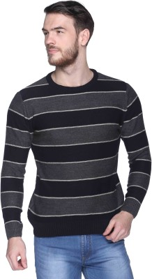 CLUB YORK Striped Round Neck Casual Men's Multicolor Sweater