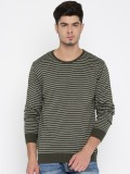 Mast & Harbour Striped Round Neck Casual...