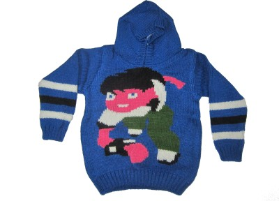 Ishu Self Design Round Neck Casual Baby Boy,s, Baby Girl's Blue, Multicolor Sweater