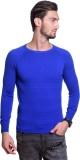 Tsavo Solid Round Neck Casual Men Blue S...