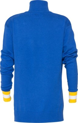 Status Quo Cubs Solid Turtle Neck Casual Boy's Blue Sweater
