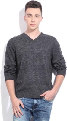 Nautica V-neck Casual Men Grey Sweater
