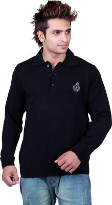 Vivid Bharti Solid V-neck Casual Men's Black Sweater