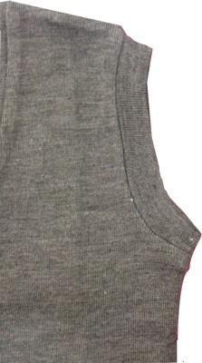 Rajindras Self Design V-neck Casual Men's Grey Sweater