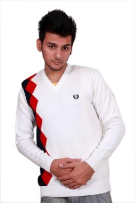 Leebonee V-neck Graphic Print Mens Pullover