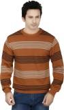 Fizzaro Striped Round Neck Casual Men Br...