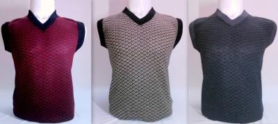 ADK Geometric Print V-neck Women's Multicolor Sweater