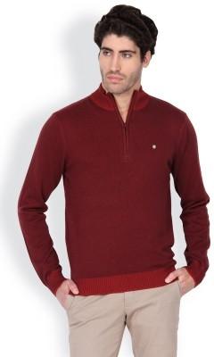 Blackberrys Solid Round Neck Men's Maroon Sweater