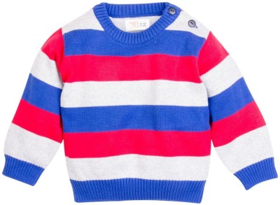Mom & Me Striped Round Neck Casual Baby Boy's Multicolor Sweater