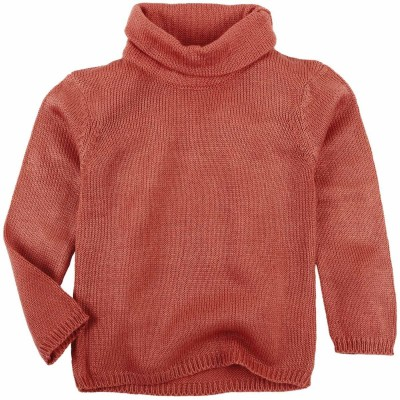 Oye Solid Round Neck Casual Girl's Brown Sweater
