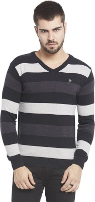 Globus Striped V-neck Casual Men,s Multicolor Sweater