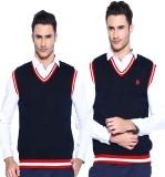 Sports 52 Wear Solid V-neck Casual Men D...